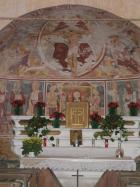Albano Vercellese (VC) - Chiesa Trinità (interno)
