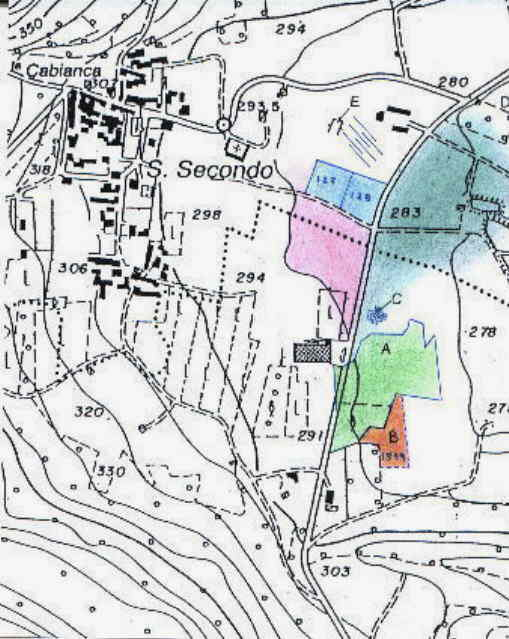 Salussola s secondo map