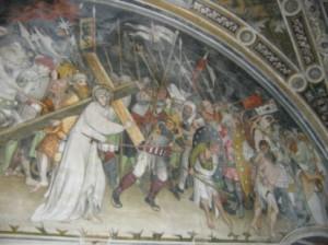 affreschi salita al calvario
