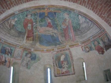 marentino affreschi abside